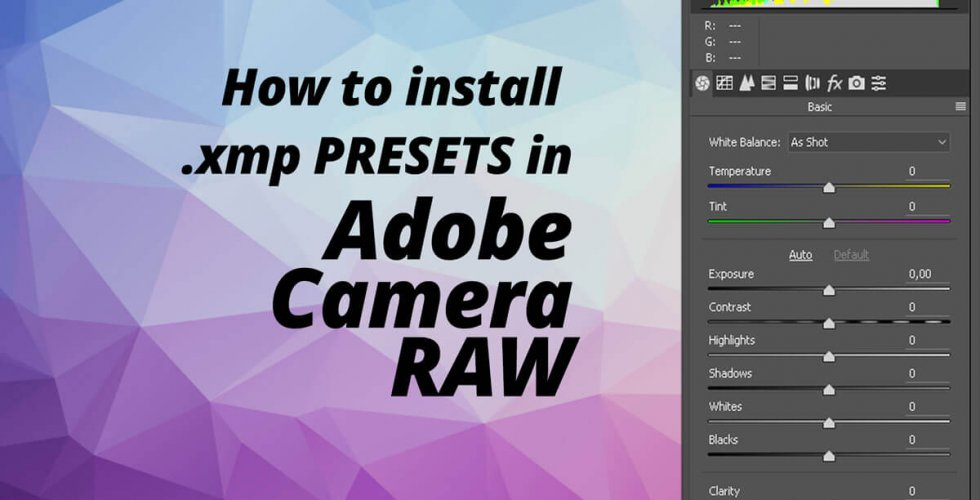 How to install presets in Adobe Camera Raw