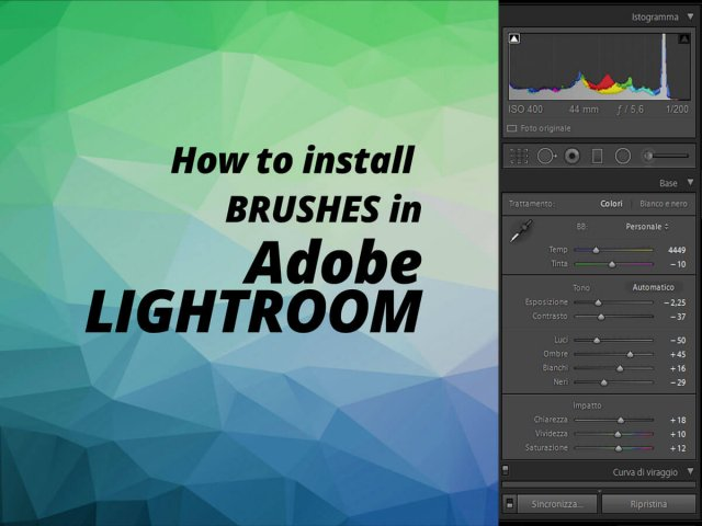How to install Adobe Lightroom Brushes