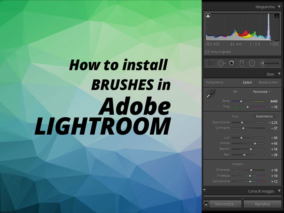 Lightroom Brushes install | Presets for photographers & film-makers