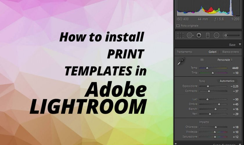 How to install Adobe Lightroom Print Templates